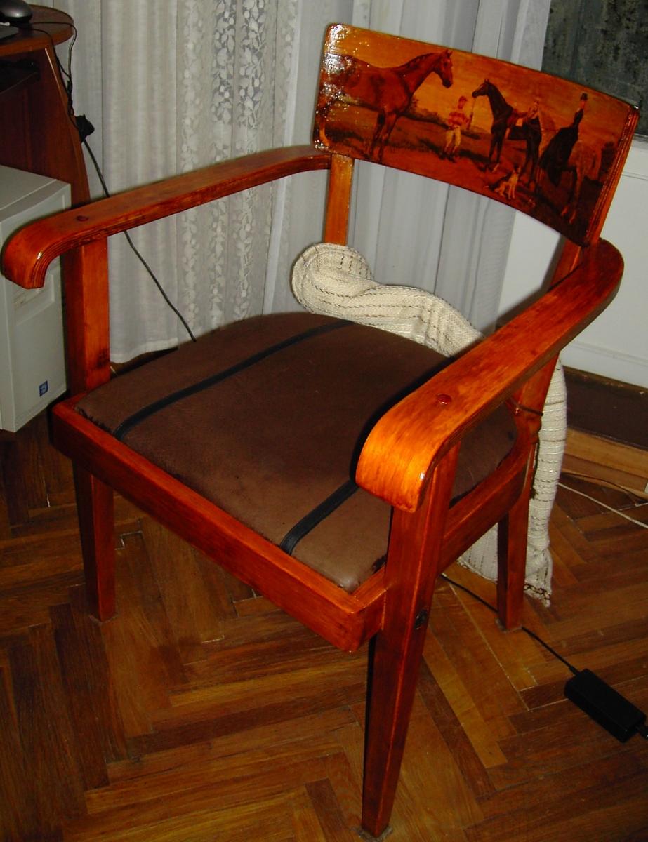 Ремонт своими руками старинного кресла 15